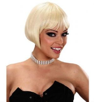 Ladies 20s 30 Short Blonde Bob Wig